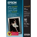 Epson Ultra Glossy Photo Paper - 10x15cm 50 Fogli